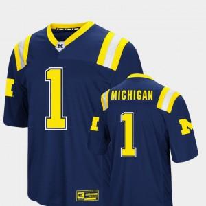 Michigan Jersey #1 Colosseum Navy Men Foos-Ball Football 827170-215