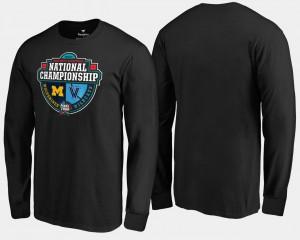 vs. Villanova Wildcats Crossover Matchup Long Sleeve 2018 Basketball National Championship Black Men's Michigan T-Shirt 116973-271