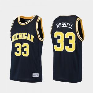 Basketball Alumni Navy For Men Cazzie Russell Michigan Jersey #33 965542-910
