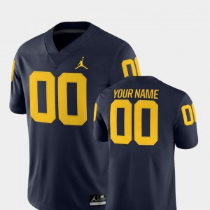 #00 2018 Game Michigan Customized Jersey For Men College Football Navy 762924-203