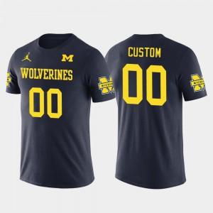 Navy Future Stars Men's #00 Cotton Football Michigan Custom T-Shirts 872250-839
