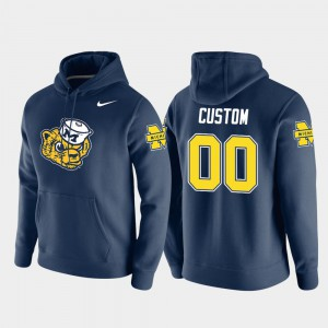 Vault Logo Club Navy Michigan Customized Hoodies Pullover Men #00 256305-688