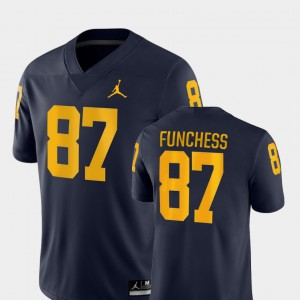 College Football Game Mens Devin Funchess Michigan Jersey #87 Navy 212040-800