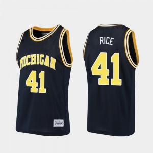 Navy Glen Rice Michigan Jersey Basketball Alumni For Men #41 793407-247