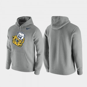 Michigan Hoodie Club Fleece Heathered Gray For Men Vintage Logo 645454-294