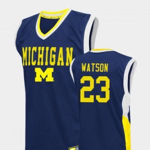 Ibi Watson Michigan Jersey Men Fadeaway #23 Blue College Basketball 414568-393