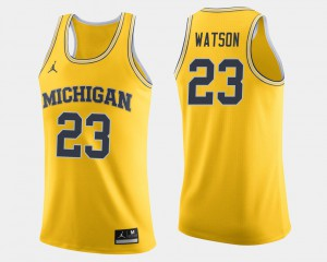 College Basketball Ibi Watson Michigan Jersey #23 For Men Maize 365258-783
