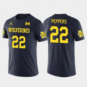 Jabrill Peppers Michigan T-Shirt Future Stars Navy #22 Cleveland Browns Football Men's 936990-467