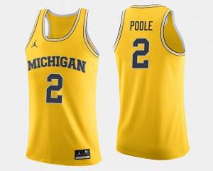 College Basketball For Men's Maize Jordan Poole Michigan Jersey #2 540091-953