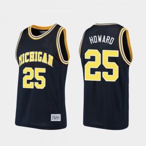 Juwan Howard Michigan Jersey Mens Alumni Basketball #25 Navy 351153-937