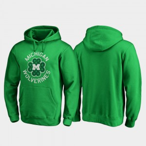 St. Patrick's Day Mens Michigan Hoodie Luck Tradition Kelly Green 666987-846
