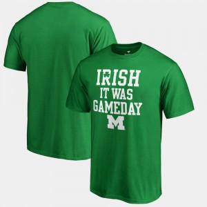 Kelly Green St. Patrick's Day Men's Michigan T-Shirt Irish It Was Gameday 479337-267