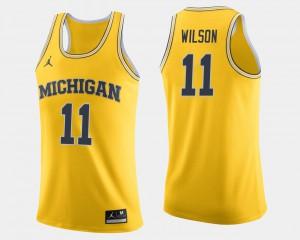 Luke Wilson Michigan Jersey College Basketball Maize For Men's #11 407270-112