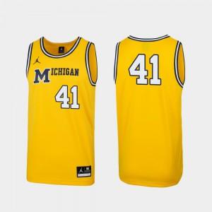 Maize Michigan Jersey Replica #41 Men 1989 Throwback College Basketball 943434-276