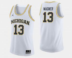 Moritz Wagner Michigan Jersey College Basketball White #13 Men's 216783-549