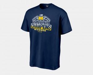 For Men's Navy Basketball Conference Tournament Michigan T-Shirt 2018 Big Ten Champions Locker Room 773592-393
