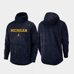 Navy Spotlight Basketball Team Logo Pullover Men's Michigan Hoodie 958563-288