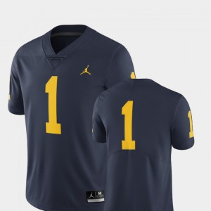 Michigan Jersey Navy #1 Limited For Men College Football 634068-533