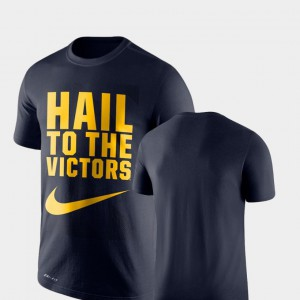 Legend Franchise Navy Michigan T-Shirt Performance For Men's 838288-905