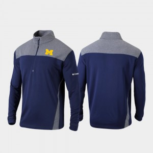 Omni-Wick Standard Mens Michigan Jacket Quarter-Zip Pullover Navy 328426-117
