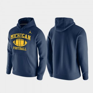 Club Fleece Michigan Hoodie Men's Navy Retro Football 619188-684