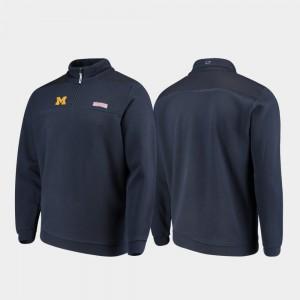 Quarter-Zip Shep Shirt Mens Michigan Jacket Navy 782911-630