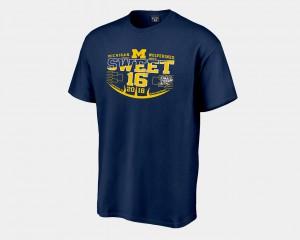 Michigan T-Shirt Navy Sweet 16 Bound Men 2018 March Madness Basketball Tournament 132755-482