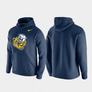 Club Fleece Navy Vintage Logo Michigan Hoodie For Men 833895-738