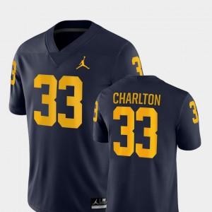 Game Taco Charlton Michigan Jersey Navy College Football Mens #33 607343-600