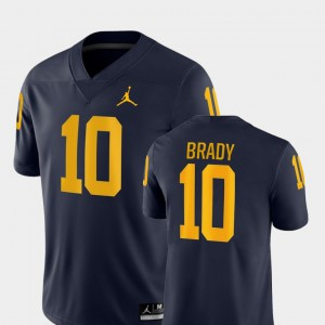 Navy Tom Brady Michigan Jersey Game #10 Men College Football 981354-173