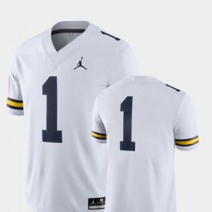 #1 Michigan Jersey College Football For Men's 2018 Game White 504529-716