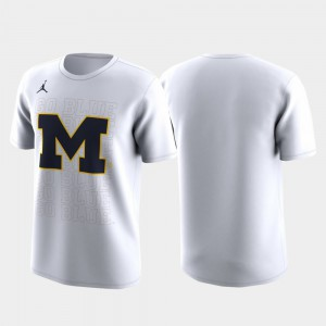 White Family on Court Michigan T-Shirt March Madness Legend Basketball Performance For Men 447455-470