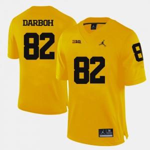 College Football #82 Amara Darboh Michigan Jersey For Men Yellow 186569-124