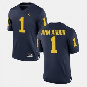 Navy #1 Alumni Football Game Men's Ann Arbor Michigan Jersey 572379-274