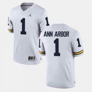 Ann Arbor Michigan Jersey Alumni Football Game White For Men #1 451917-547
