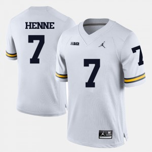 Chad Henne Michigan Jersey College Football White #7 For Men 702077-291