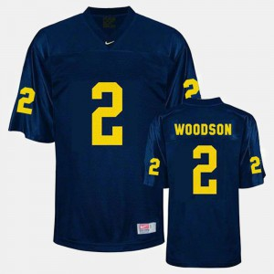 Blue Youth College Football Charles Woodson Michigan Jersey #2 468871-302