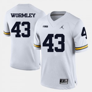 Chris Wormley Michigan Jersey For Men's #43 White College Football 138494-253