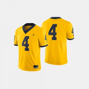 Michigan Jersey For Men's Maize #4 College Football 592122-520