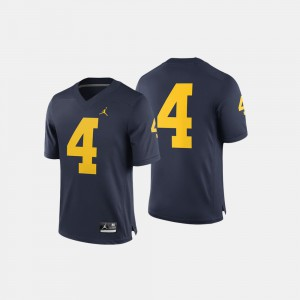 #4 Navy Michigan Jersey For Men's College Football 626660-926