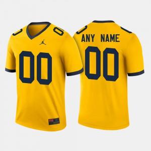 College Football Michigan Customized Jerseys #00 Maize Men's 991242-466