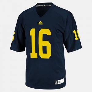 Blue Youth(Kids) #16 College Football Denard Robinson Michigan Jersey 511544-422