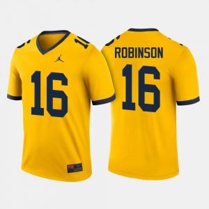 College Football #16 Men Denard Robinson Michigan Jersey Maize 634819-172