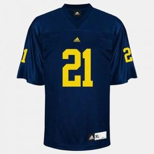 Men's College Football #21 Blue desmond Howard Michigan Jersey 213147-669