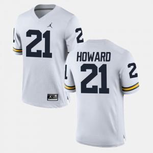White #21 College Football desmond Howard Michigan Jersey For Men's 916322-220