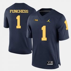 College Football Men's Devin Funchess Michigan Jersey Navy Blue #1 357813-974