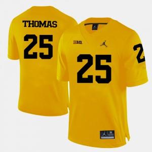 Dymonte Thomas Michigan Jersey For Men's College Football #25 Yellow 458884-185