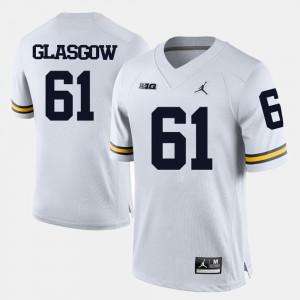 White Men's College Football Graham Glasgow Michigan Jersey #61 868529-454