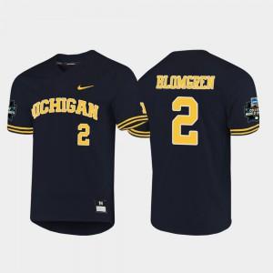 For Men Navy Jack Blomgren Michigan Jersey #2 2019 NCAA Baseball College World Series 707960-735