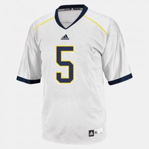 John Wangler Michigan Jersey #5 Men White College Football 372330-239